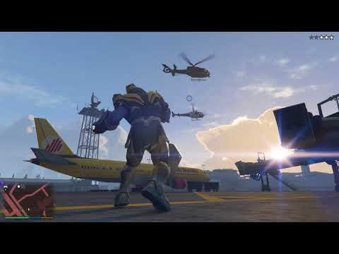GTA 5 Thanos Destroyed Airport (видео)