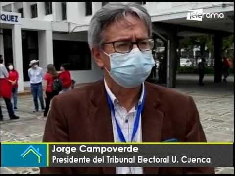 Se desarrolla la segunda vuelta de las elecciones de rectorales de la Universidad de Cuenca