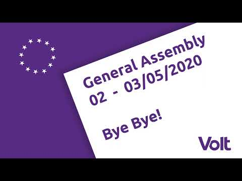 LIVE: Volt Europa General Assembly 02.-03.05.2020 - Day 2