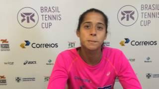 Teliana Pereira disputará final do Brasil Tennis Cup