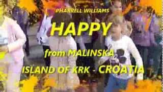 Malinska Croatia  City pictures : Pharrell Williams - Happy (Malinska, Croatia)