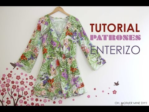 DIY Tutorial Y Patrones: Mono / Enterizo Estampado