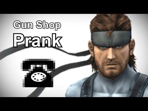 Solid Snake Calls Gun Shops – Metal Gear Prank Call