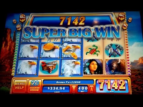 Great Eagle II Slot – $8 Max Bet Bonus – Super Big Win!
