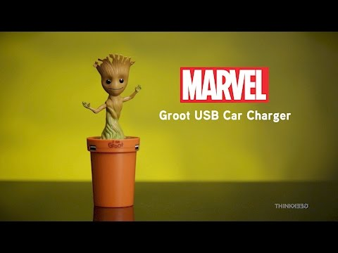 Marvel Groot USB Car Charger from ThinkGeek