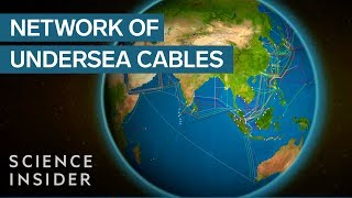 Undersea cables that power the internet