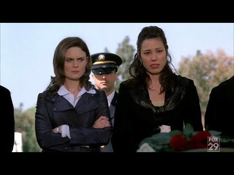 Bones 3x15 - Brennan goes to Booth's funeral