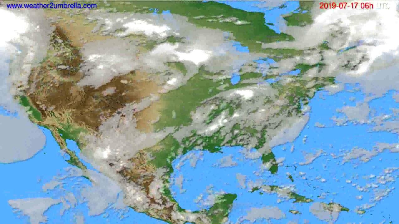 Cloud forecast USA & Canada // modelrun: 12h UTC 2019-07-14