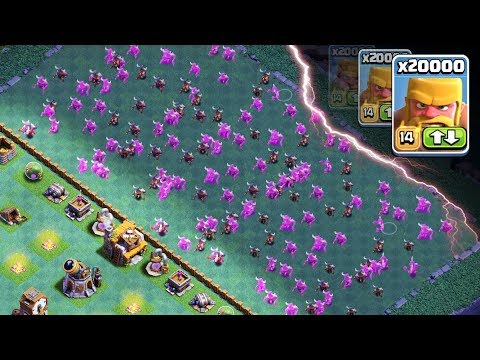 20,000 BARBARIAN MASS DESTRUCTION!! | CoC How To 3 Star EVERY Internet Base EASILY! | Clash Of Clans