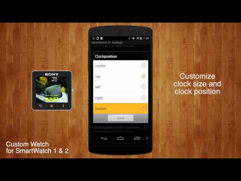 Video of Custom Watch for SmartWatch