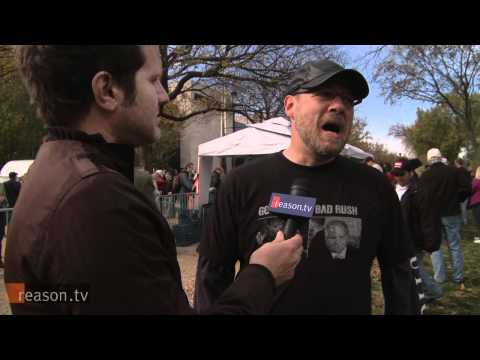 ReasonTV - Reason.tv was on hand for the Rally to Restore Sanity And/Or Fear hosted by Jon Stewart and Stephen Colbert at the National Mall in Washington on Saturday, O...