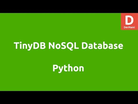 Python TinyDB Database Tutorial