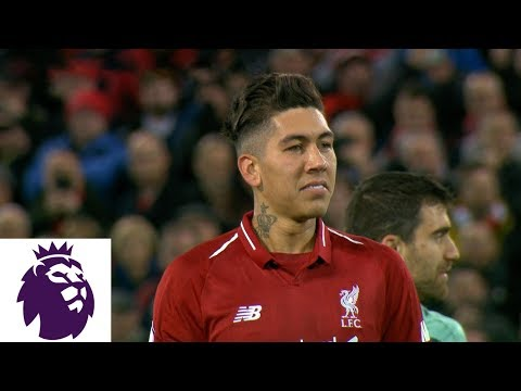 Video: Roberto Firmino's penalty kick gives him a hat trick against Arsenal | Premier League | NBC Sports