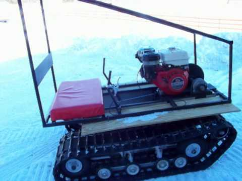 homemade - Motified homemade twin track go kart added new boggie system to help with the tracking of the tracks, video going though the snow and showing some of the dri...