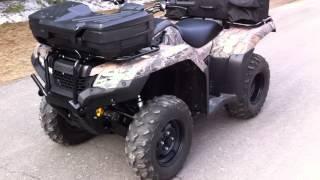 9. 2014 Honda 420 Fourtrax Rancher Start Up Walk Around Camo