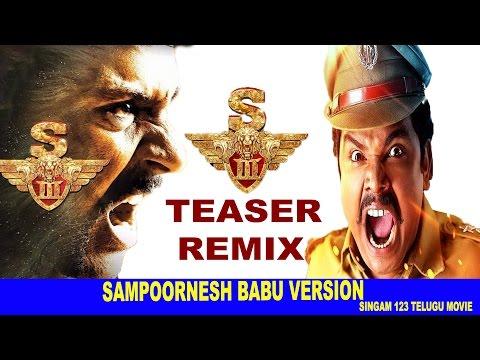 S3 Aka Singam 3 Teaser Remix/Troll - Singam123 Sampoornesh Babu Version- Suriya, Anushka, Shruti