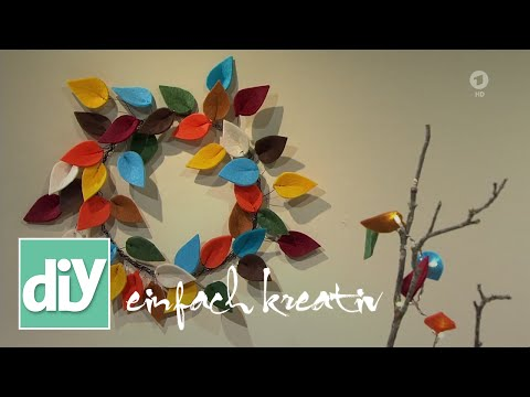 Herbstlicher Filzblätter-Kranz | DIY einfach kreativ