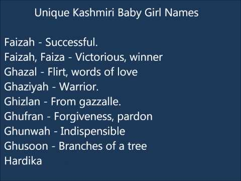 Video Unique Kashmiri Baby Girl names download in MP3, 3GP, MP4, WEBM, AVI, FLV January 2017