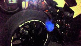 8. Triumph Speed Triple 1050 pot HP Corse Bruit Enorme avec flammes HD