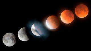 Super Blood Moon Lunar Eclipse Time-lapse 4K