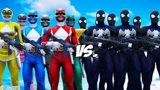 Video MIGHTY MORPHIN POWER RANGERS VS BLACK SPIDER-MAN ARMY MP3, 3GP, MP4, WEBM, AVI, FLV Juli 2018