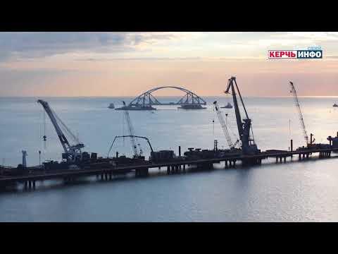 54 часа транспортной операции Керченского моста за 1 минуту. ТАЙМЛАПС