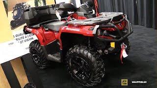 8. 2018 Can Am Outlander XT 850 ATV - Walkaround - 2017 Drummondville ATV Show