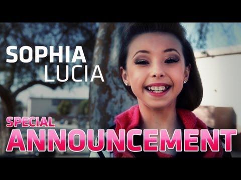 SOPHIA LUCIA Special Announcement