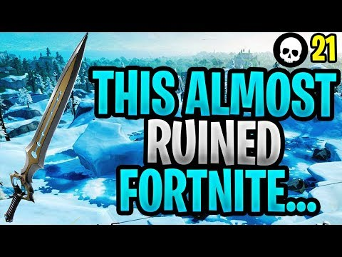 How 1 Item Almost Single-Handedly RUINED Fortnite... (Fortnite Season 7 Infinity Blade Sword)