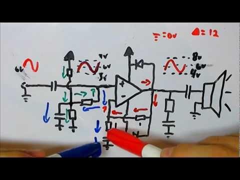 Amplificadores de Potenci - Neste vídeo sera explicado como os Amplificadores de áudio funcionam. Classe(AB) Os assuntos abordados vão desde filtros RC e divisores de tensão a amplifica...