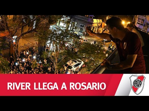 ¡LOCALES EN ROSARIO! Mirá la llegada del Millonario a Rosario