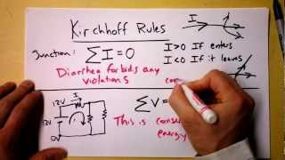Kirchhoff's Loop and Junction Rules Theory | Doc Physics