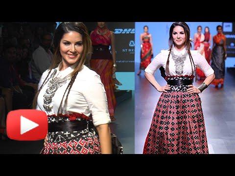 Sunny Leone Stunning Rampwalk At Lakme Fashion Wee