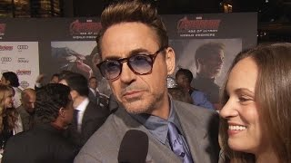 Robert Downey Jr Avengers Age of Ultron Premiere Interview