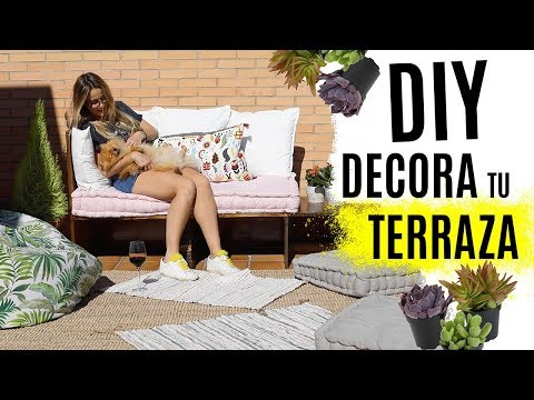 DIY DECORA TU TERRAZA - Cómo hacer un sofá  zona chill out