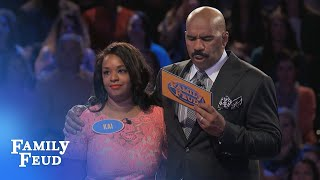 This is how you play Fast Money folks... SUBSCRIBE: http://bit.ly/FamilyFeudSub Visit our NEW STORE: manicmerch.com/familyfeud PLAY the new FEUD MATCHES: lud...