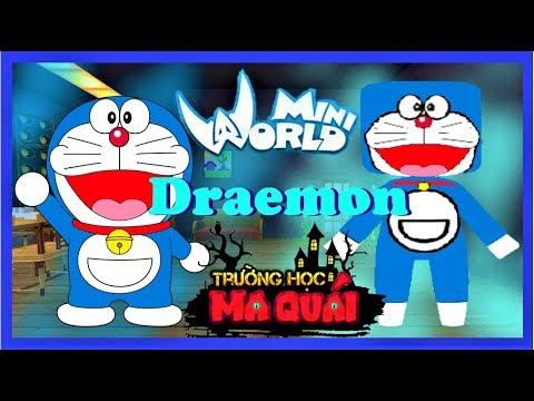 TRƯỜNG HỌC MA QUÁI:-tập 17- 1 ngày làm Doraemon | Thử thách sử dụng bửu bối thần kì trong mini world - Thời lượng: 13 phút.