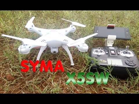 [Unboxing - TEST] Syma X5SW-1 RTF RC Quadcopter, Camera WIFI FPV
