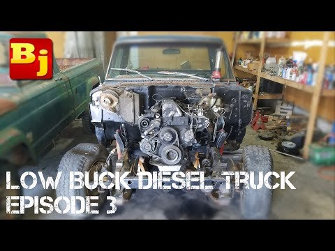Low Buck Diesel Truck Episode 3 - Motor Mounts (видео)