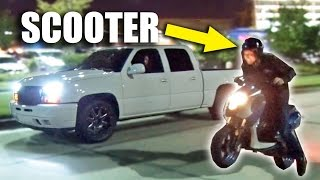 Download Youtube: SLEEPER Scooter Goes Street Racing