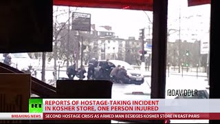 Armed man takes hostages in Paris kosher grocery store