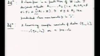 Mod-01 Lec-30 Discriminant Analysis And Classification