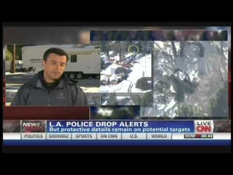 Christopher Dorner Manhunt Shootout Cabin Fire Big Bear Lake California (February 13, 2013)