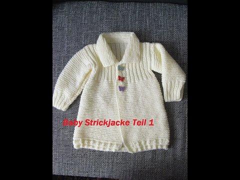 Baby Strickjacke Teil 1*Kinder Jacke Stricken*Pullover*Tutorial Handarbeit