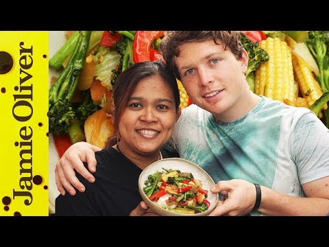 stir - Hi Food Tubers! Our favourite Thai chef is back and this time Poo is showing vegan free runner Tim Shieff her colourful and simple vegetable stir fry recipe. Beautifully fresh ingredients tossed...