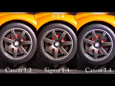 Sigma 50mm f1.4 vs Canon 50mm 1.2L vs Canon 50mm 1.4 Sharpness Test