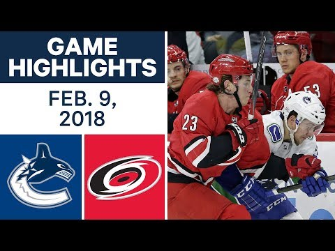 Video: NHL Game Highlights | Canucks vs. Hurricanes - Feb. 9, 2018