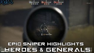 Heroes and Generals ✮ Epic Sniper Highlights #1