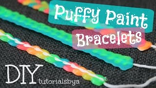 DIY Fabric/Puffy Paint Bracelet Tutorial | TutorialsByA - YouTube