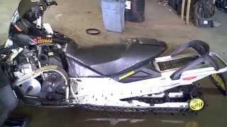 9. LOT 1780A 2004 Ski Doo Summit X 600 HO Rev Chassis Tear Down